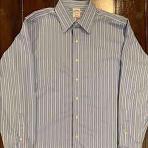 Brooks brothers striped button front shirt